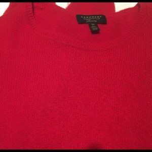 Charter club cashmere sweater Red size xs